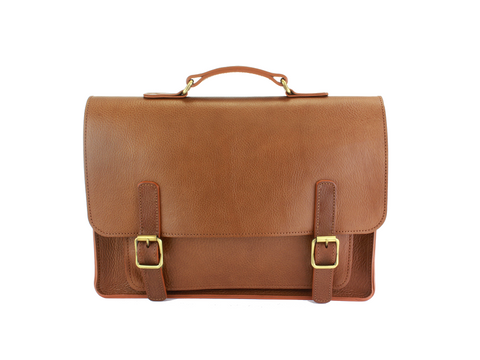 The British Belt Company | Kingston Saddle Tan Pistachio | Satchel - Man Cave - 1