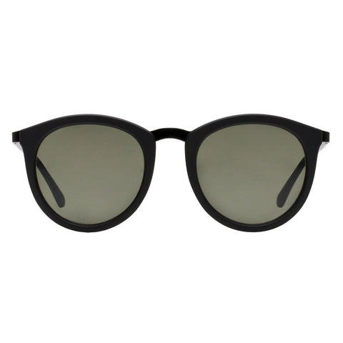Le Specs | No Smirking Black Rubber | Khaki Mono - Man Cave - 1