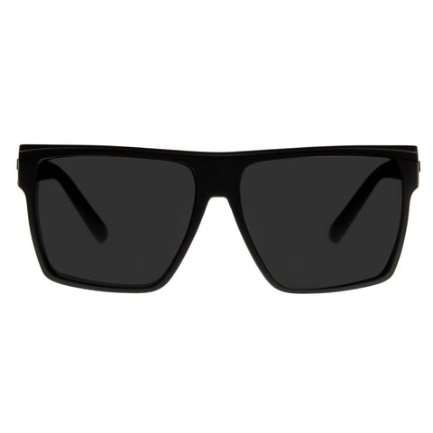 Le Specs Dirty Magic | Black Rubber | Silver Mirror Polarized - Man Cave - 1