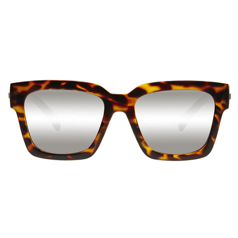 Le Specs Weekend Riot | Matte Tort | Silver Mirror - Man Cave - 1