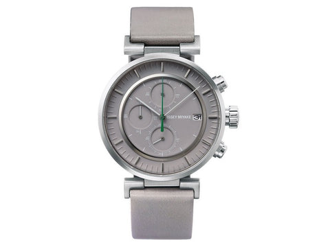 Issey Miyake | W Grey Dial Grey Leather Men's Watch | NY0Y002Y - Man Cave