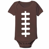 Football Laces Baby One Piece