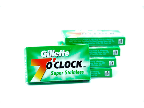 Gillette |  7 O'Clock Super Stainless Double Edge Blades | 5 pack - Man Cave