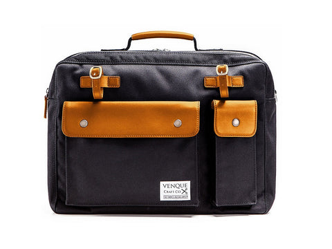Venque | Milano Black | Messenger Bag - Man Cave - 1