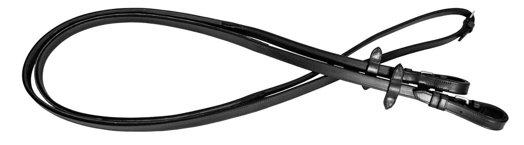 Platinum Rubber Backed Leather Reins