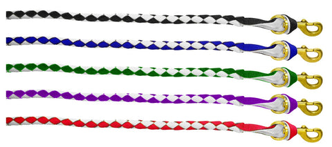 Blue tag 2 Tone Plaited Lead Rope