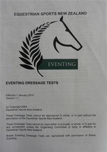 Eventing Dressage Test Book
