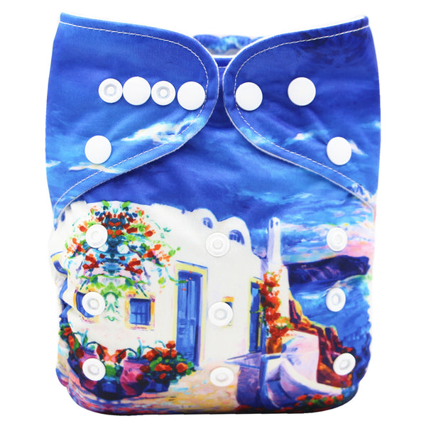 Asenappy Holiday suede cloth diaper with one 4 layers bamboo insert
