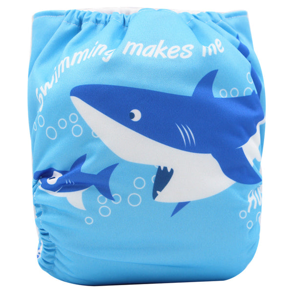 Asenappy shark suede cloth diaper with one 4 layers bamboo insert