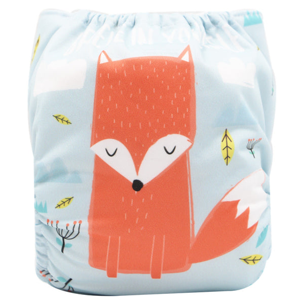 Asenappy new fox suede cloth diaper with one 4 layers bamboo insert