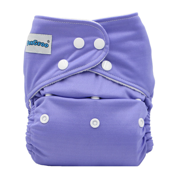 FoxGroo Pocket Diaper,Grape with 4 layers bamboo insert