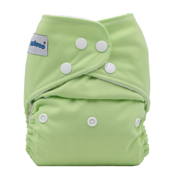 FoxGroo Pocket Diaper,Meadow with 4 layers bamboo insert