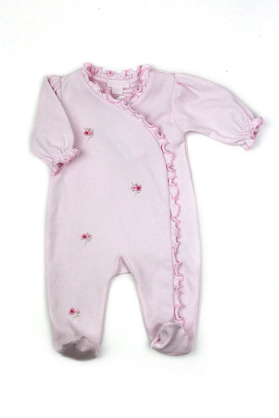 Kissy Kissy Premier Ruffle Footie With Flower Detail