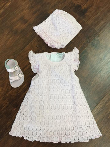 Kissy Kissy Pink Lacy Crochet Fine Knit Dress