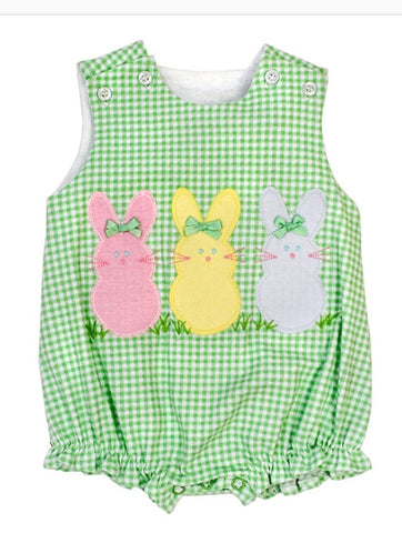 Bailey Boys Easter Peeps Girls Applique Knit Bubble