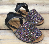 Geppetto's Girls Minorquinas Glitter Multicolor Sandals
