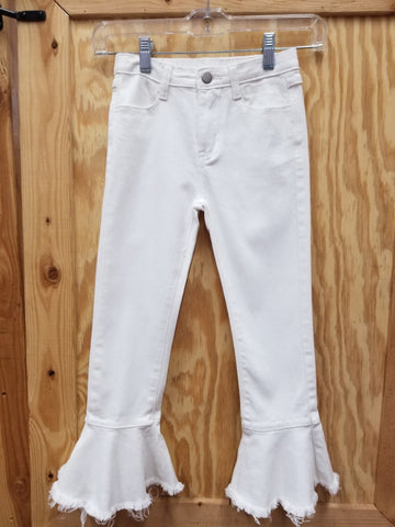 Tween Cropped Frill Flair Jeans