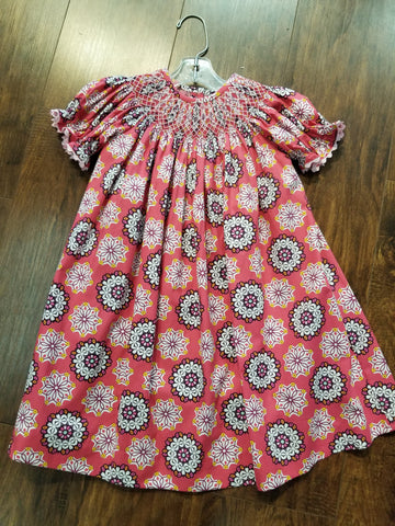 Three Sisters Razzleberry Smocked Dress