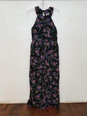 Tween Black and Purple Maxi Romper