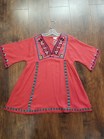 Tween Embroidered Bell Sleeved Dress