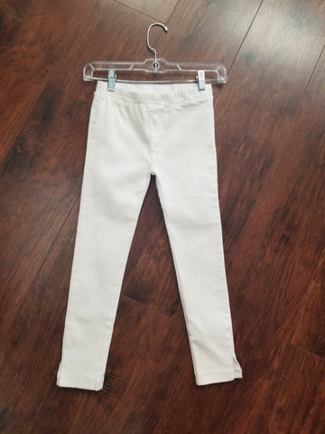 Tween Cropped Gartered Pants (White)