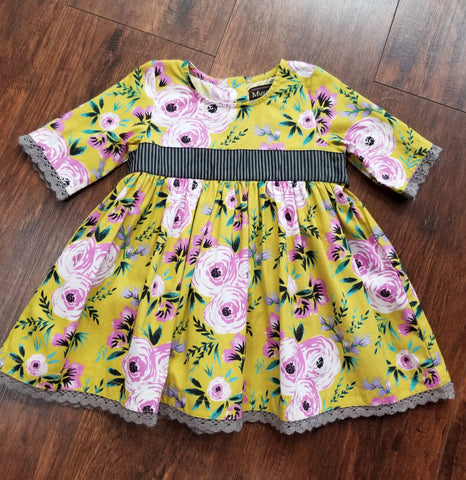Mustard Pie Yellow Floral Omni Dress