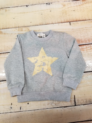 Doe A Dear Gray Sweatshirt With a Star