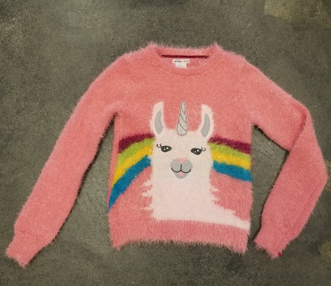 Tween Llama Unicorn Sweater