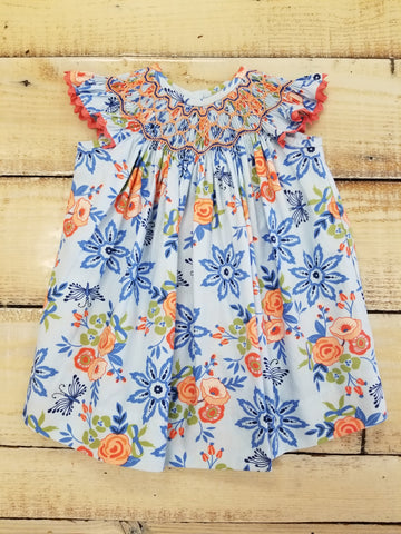 Three Sisters Bliss Bouquet Smocked Bishop Dress