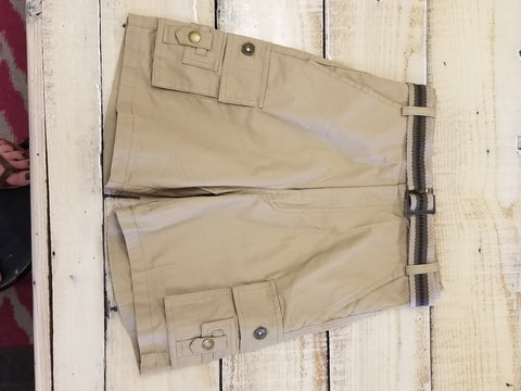 Boys Cargo Shorts with Belt