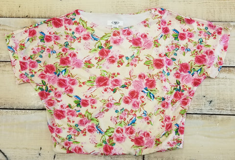 Tween Floral Slouchy Top