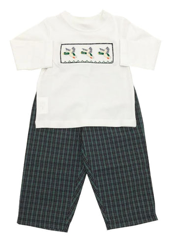Mom&Me Smocked Duck Pant Set