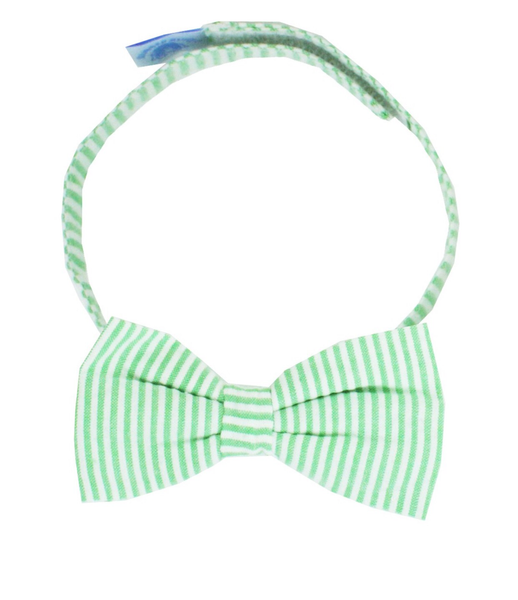 Rugged Butts Green Seersucker Bow Tie