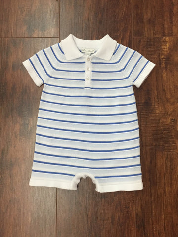 Kissy Kissy Blue Stripe Knit Onsie