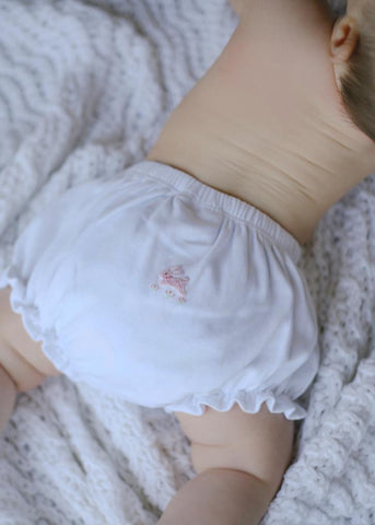 Little English Pinpoint Bunny Bloomers
