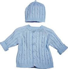 Boys Blue Knit Sweater and Hat