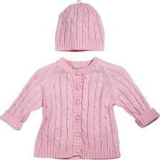 Girls Pink Knit Sweater