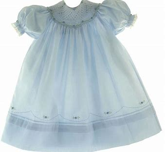 Feltman Blue Smocked Bishop Dress