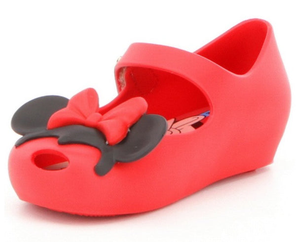 Mini Melissa Ultragirl Disney Mary Jane Shoes Red