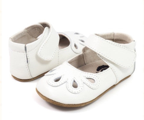 Livie & Luca Baby Petal Mary Janes - Milk