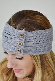 Knit Head Wrap with Button Detail