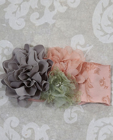 Giggle Moon Tree Of Life Headband with Triple Flower