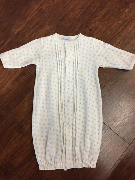 Pima Cotton Boys Paw Print Converter Gown