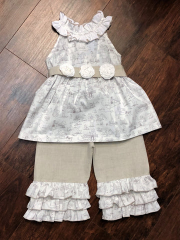 Three Sisters Old School Ruffle Capri Set