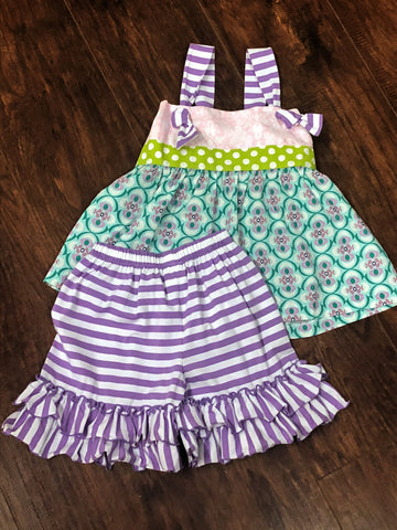 Three Sisters Whimsy Knot Tie Shorts Set