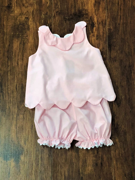 Banana Split Pink Scalloped Bloomer Set