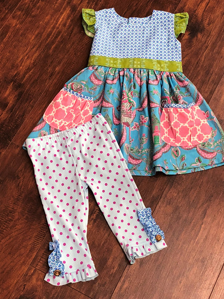 Giggle Moon Children of Love Capri Set