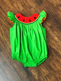 Mom & Me Smocked Watermelon Bubble