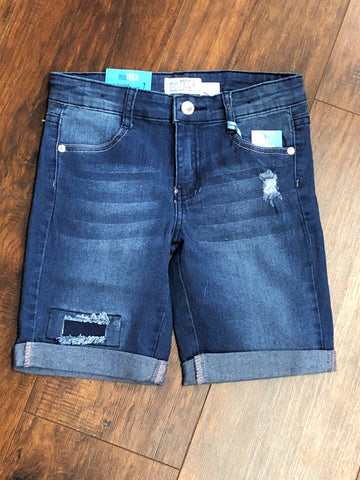Denim Distressed Bermuda Short