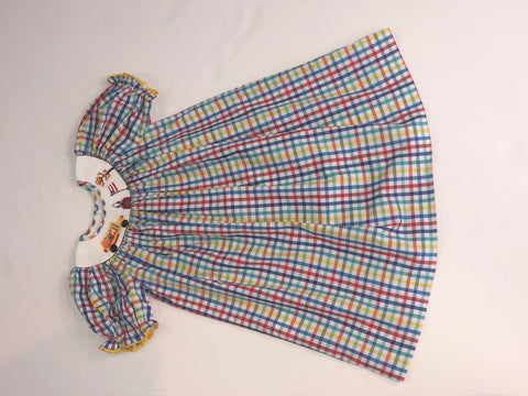 Mom & Me Plaid Smocked Dress